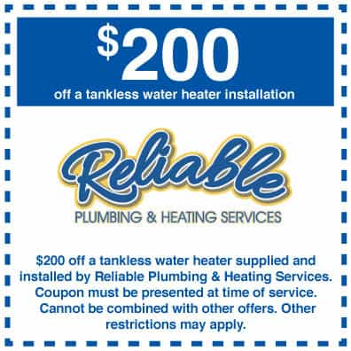 $200 off tankless water heater installation coupons