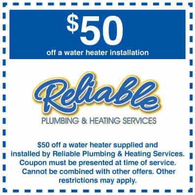 $50 off water heater installation coupon